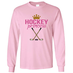 Hockey Princess Long Sleeve Shirt light pink