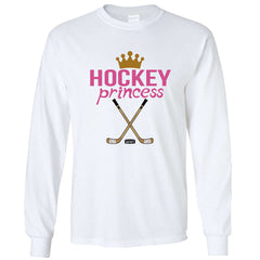Hockey Princess Long Sleeve Shirt white