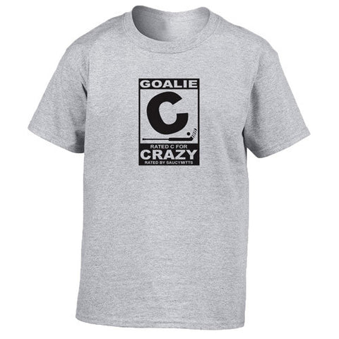 Rated C for Crazy Hockey Goalie Youth Shirt