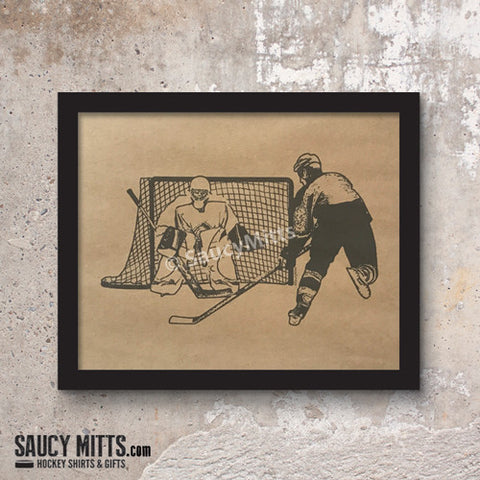 Hockey Ink Sketch Print