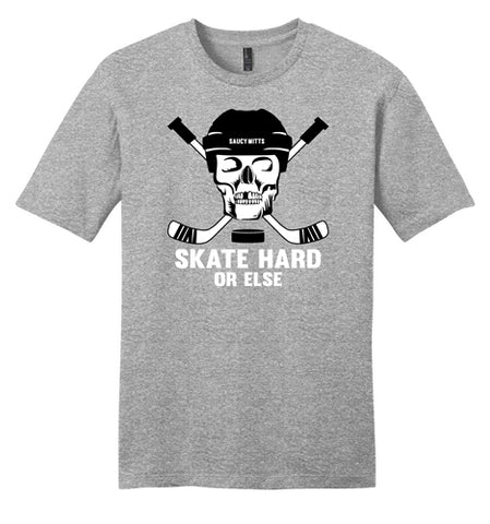 Hockey Skull Shirt - Skate Hard