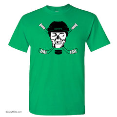 hockey skull youth hockey shirt green
