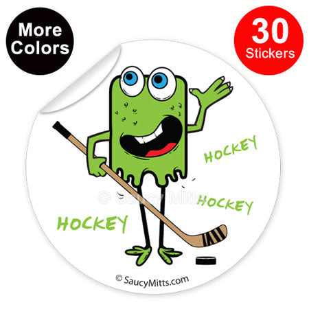 Kids Hockey Monster Stickers