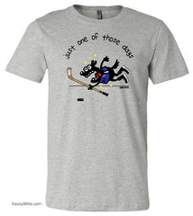 Just One of Those Days Youth Hockey Shirt heather gray