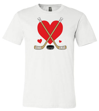 Girls Love Heart Hockey Shirt