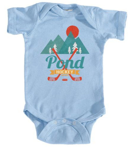 Retro Pond Hockey Infant Bodysuit One Piece