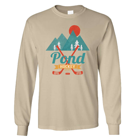 Retro Pond Hockey Long Sleeve Shirt