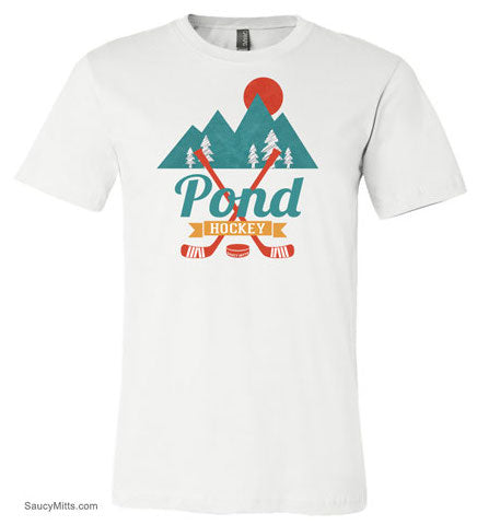 retro pond hockey womens shirt white