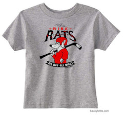 Rink Rats Hockey Infant and Toddler Shirt heather gray