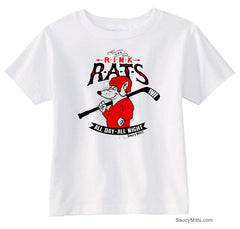 Rink Rats Hockey Infant and Toddler Shirt white