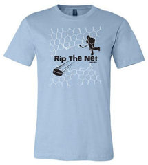 rip the net kids hockey shirt light blue
