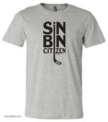 Sin Bin Hockey Shirt heather gray