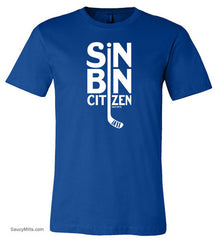 Sin Bin Hockey Shirt royal blue