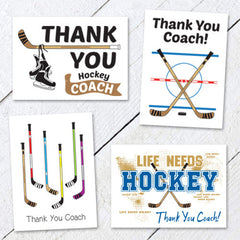 Thank You Hockey Coach Cards - Variety Pack