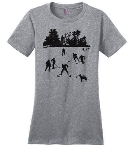 day on the lake womens hockey shirt heathered steel