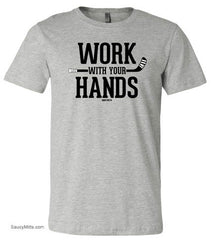 Work With Your Hands Youth Hockey Shirt heather gray