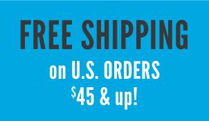free shipping on U.S. orders $60+