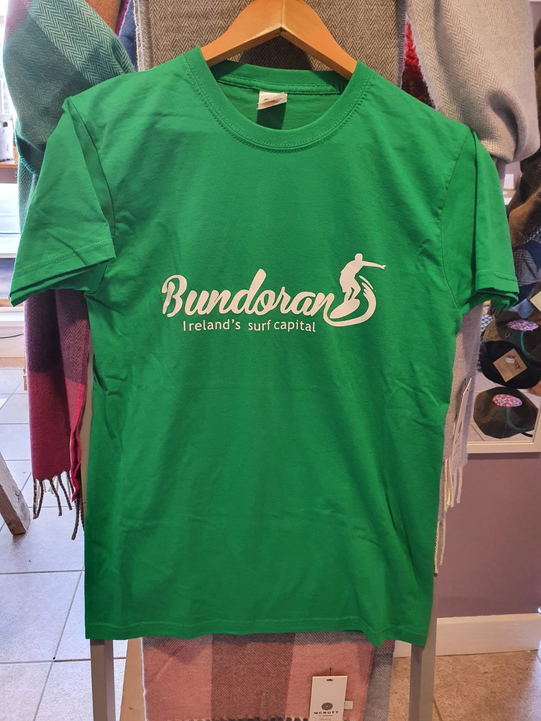 Bundoran T-Shirt 'Irelands Surf Capital' (Green)