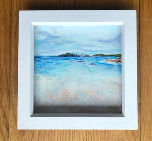 'Carrickfin'  Acrylic framed original by Marion Rose     6 x 6 inches