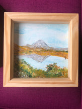 Load image into Gallery viewer, 'Errigal'  Acrylic framed original by Marion Rose     6.5 x 6.5 inches