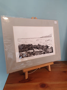 Limited Edition Black/White Rocks at Streedagh by Kevin Lowery  (unframed)