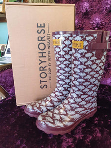 Patterned Rain Boots / Wellington Boots