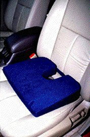EXTRA FIRM Tush Cush Car Computer Airplane Travel Seat Cushion Charcoal