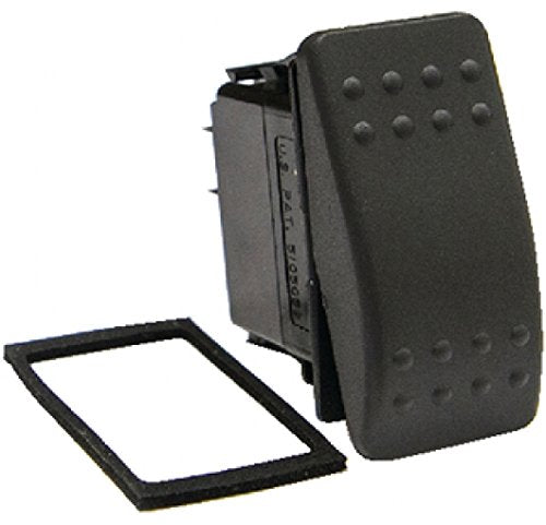 Sierra International RK19410-1 Weather Resistant Off-Mom On SPST Contura II Rocker Switch