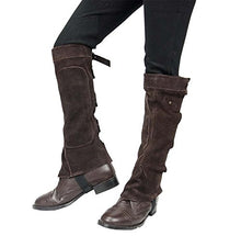 Load image into Gallery viewer, Derby Suede Leather Half Chaps with Velcro Closure for Horse Riding or Motorcycle Use