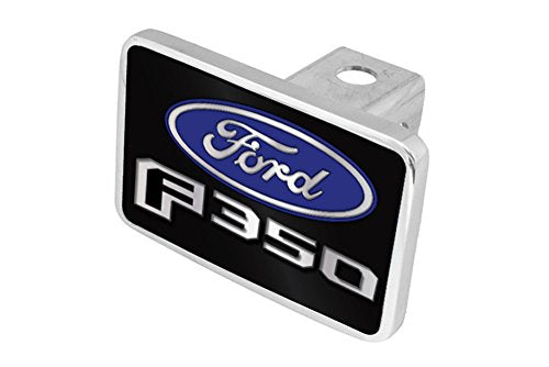 Eurosport Daytona- Compatible with 2015-2020, Ford F-350 Logo Word, Premium Aluminum Hitch Plug