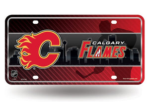 NHL Calgary Flames Metal License Plate Tag