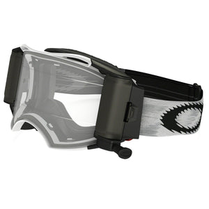 Oakley Airbrake MX Goggles with Race Ready Roll-Off System (Matte White Speed Frame/Clear Lens)