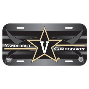 WinCraft NCAA Vanderbilt University License Plate