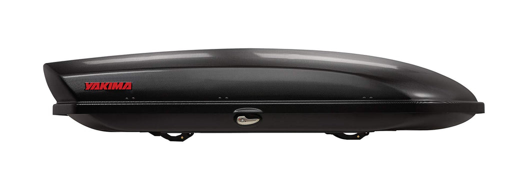yakima - SkyBox Aerodynamic Rooftop Cargo Space for Cars, Wagons and SUVs, 18 (adds 18 Cubic ft. of Storage), Carbonite