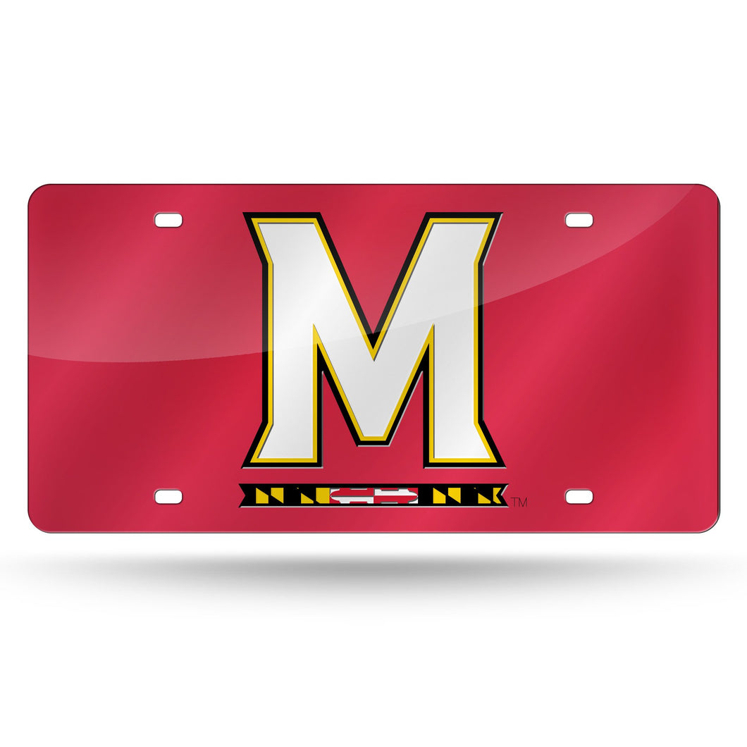 NCAA Maryland Terrapins Laser Inlaid Metal License Plate Tag