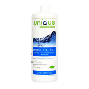 Unique Marine Digest-It Holding Tank Treatment - 32 oz. | Liquefies Waste and Eliminates Odors Without Masking | For Black and Gray Tanks | No Strong Fragrances