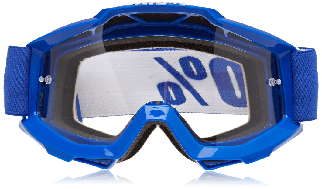 100% ACCURI Goggles Reflex Blue - Clear Lens, One Size