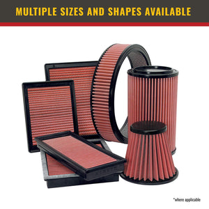 Airaid 701-471 Universal Clamp-On Air Filter: Round Tapered; 4 in (102 mm) Flange ID; 9 in (229 mm) Height; 6 in (152 mm) Base; 4.625 in (117 mm) Top