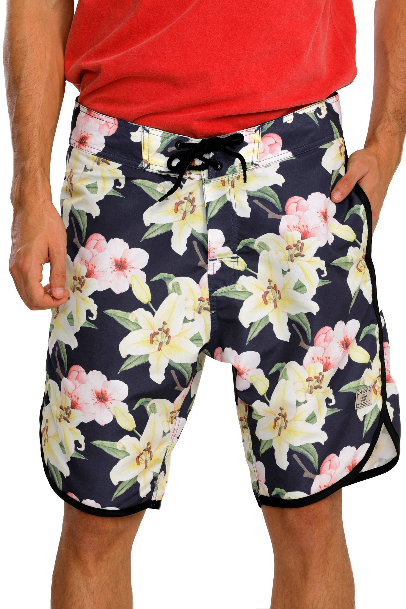 Boardshorts Indigo Flowers-Boardshorts-Pipe Content House