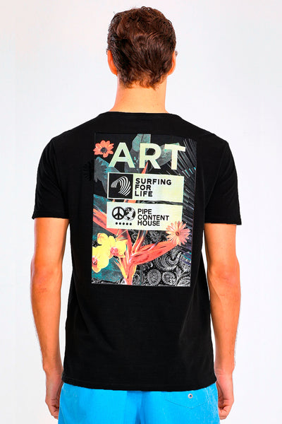 Camiseta Art Flower-Camiseta-Pipe Content House