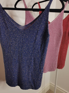 DULCIE Sequin Tank Top (Royal Blue)