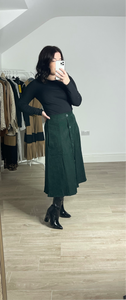 HOLLY Green Midi Skirt