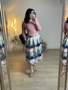 Charlotte multicoloured midi skirt in  lilac mix