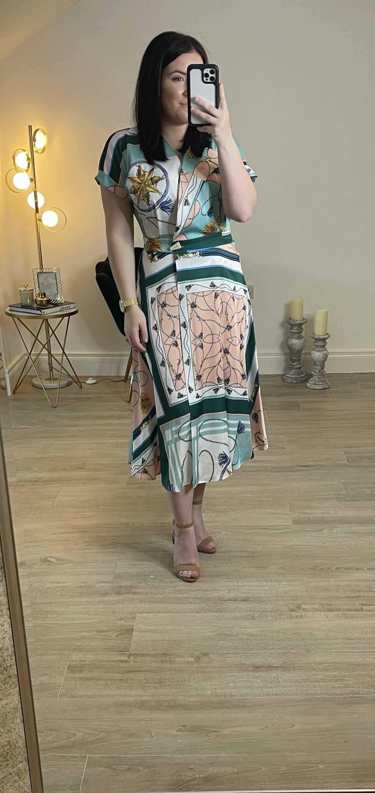Pippa Print wrap dress