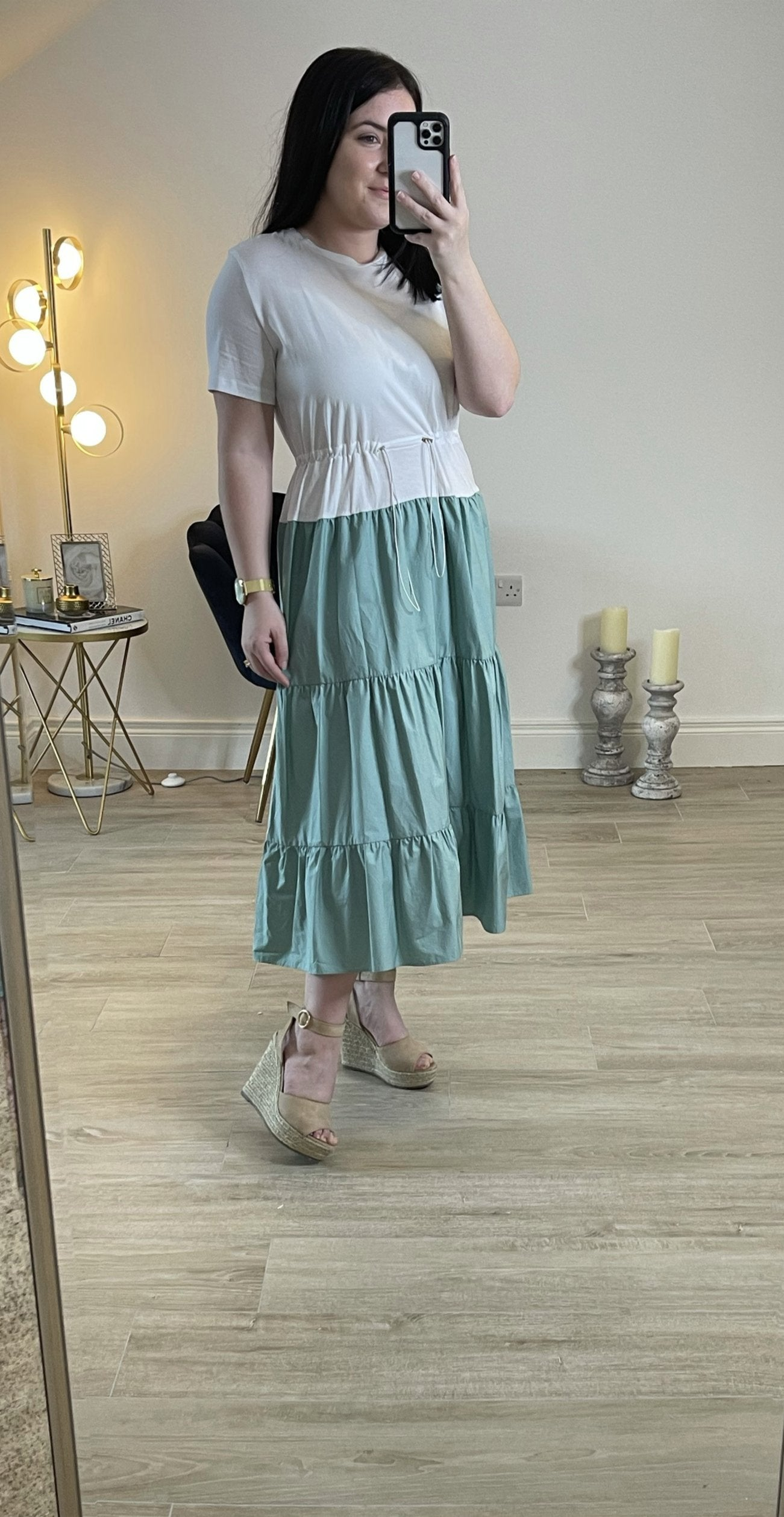 Sophie Colour block T-shirt Midi Dress
