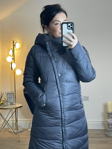 ANNIKA Longline Eco-Down Hooded Puffer Coat