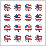 1 Sheet of Lucky Clover USA Golfdotz