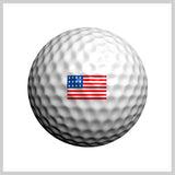 US Flag Golfdotz Design on Golf Ball
