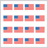 1 Sheet of US Flag Golfdotz