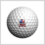 Skullmania USA Golfdotz Design on Golf Ball